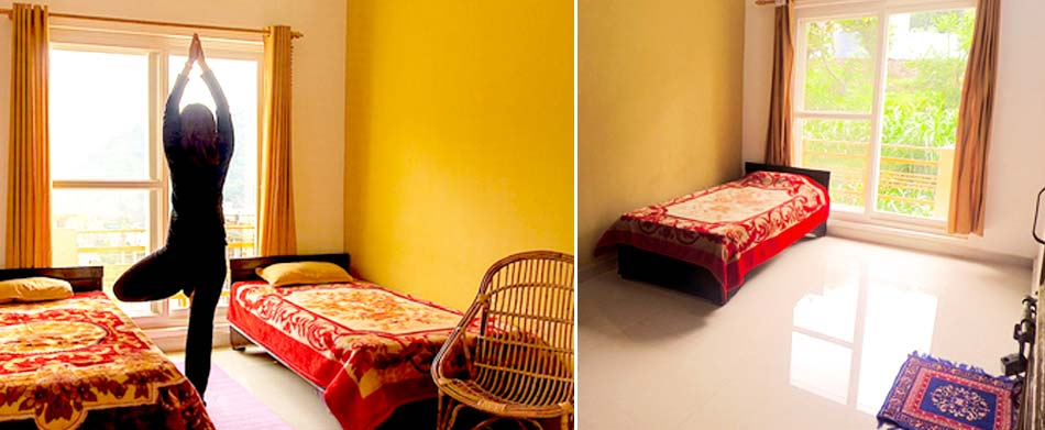 accommodation at aym yoga school